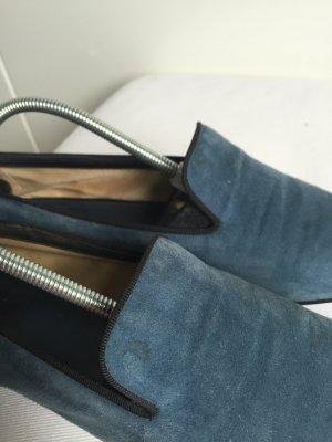 Tod's Pantofola blu acciaio-blu scuro