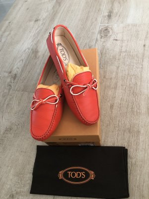 Tod's Moccasins brick red-bright red