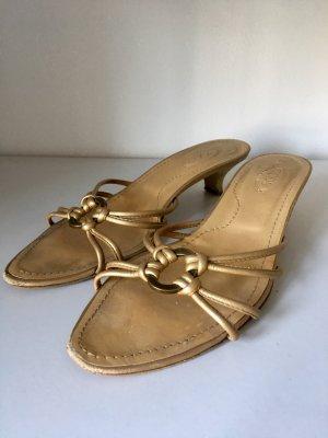 Tod's Sandalo con tacco oro