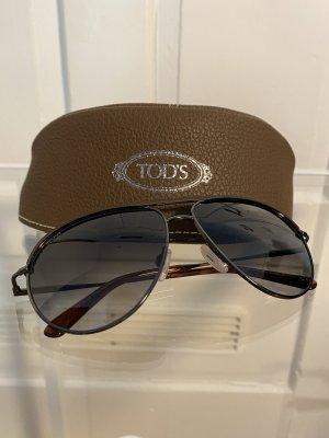 Tods Aviator Glasses black-brown