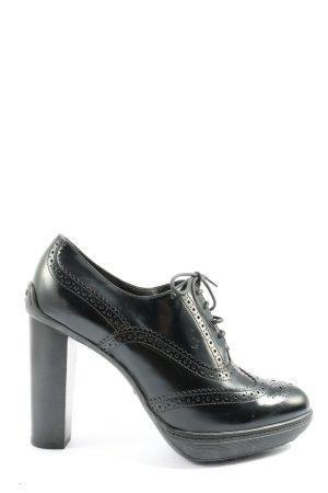 Tod's Chaussure à talons carrés noir élégant