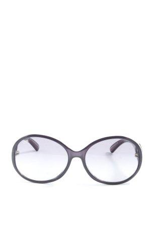 Tod's Occhiale da sole rotondo lilla stile casual
