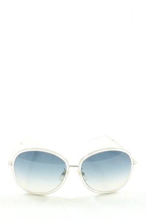 Tod's Gafas de sol redondas blanco look casual