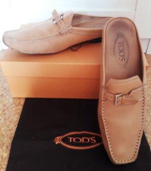 Tod's Sabots cream leather