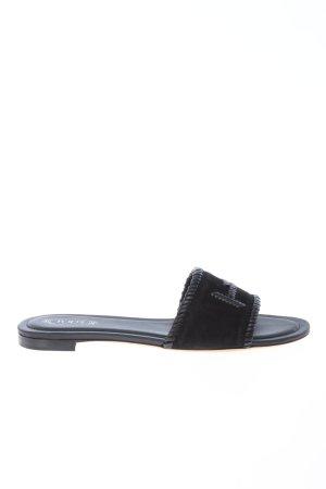 """Tod's Sabots """"Logo Detail Slide Sandal"""" black"""