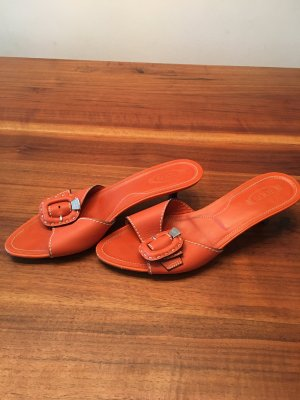 Tod's Dianette Sandals orange leather