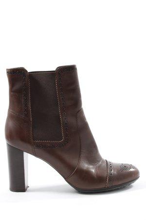 Tod's Stivaletto slip-on marrone stile casual