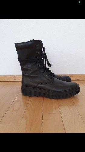Tod's Schnür Boots 38,5 schwarz