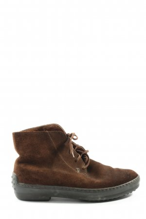 Tod's Lace Shoes brown casual look
