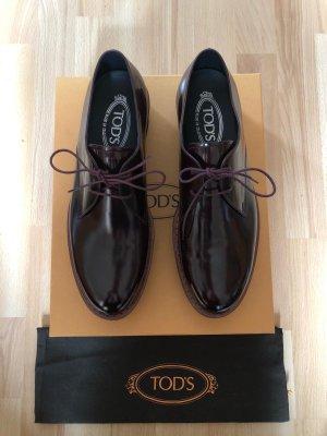 Tod's Lace Shoes bordeaux-black leather
