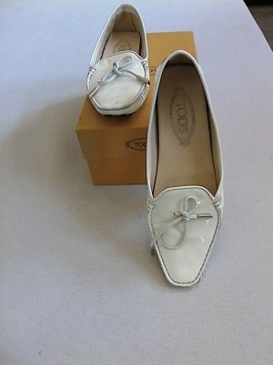 Tod's Moccasins white-black synthetic material