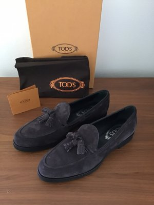 Tod's Slippers dark brown leather