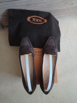 Tod's Ballerine en pointe brun noir