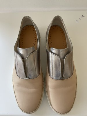 Tod's Moccasins nude-silver-colored
