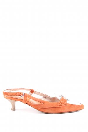 Tod's Slingback-Pumps hellorange-weiß Casual-Look