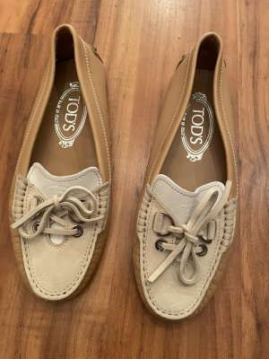 Tod's Moccasins beige-white