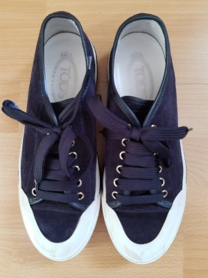 Tod's Lace-Up Sneaker dark blue-white suede