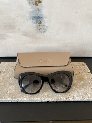 Tods Oval Sunglasses black