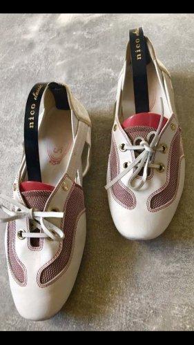 Tod's Instapsneakers wit-rood Leer