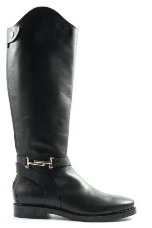 Tod's Bottes à tige large noir style décontracté