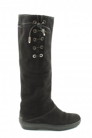Tod's Wide Calf Boots black casual look