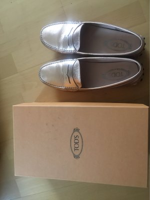 Tod's Moccasins rose-gold-coloured
