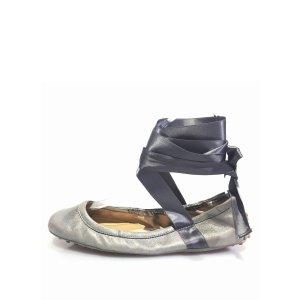 Tods Metallic Leather Ballet Flat