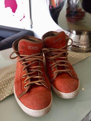 Tods Schuhe Schnürschuhe  Orange Gr. 39