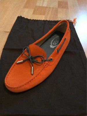 Tods Zapatos formales sin cordones naranja neón-naranja oscuro
