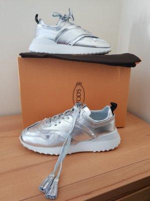 Tod's Sneaker stringata argento