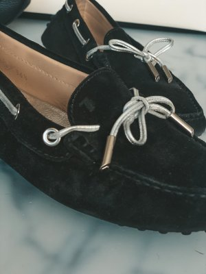 Tod's Zapatos Budapest negro-color plata