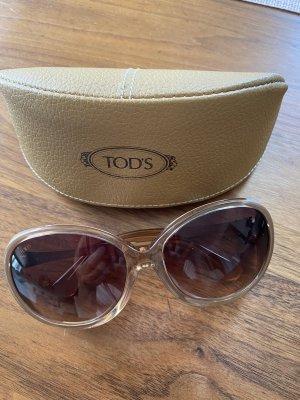 Tods Owalne okulary przeciwsłoneczne brąz