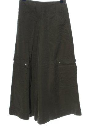 Together Pantalone largo marrone puntinato stile casual