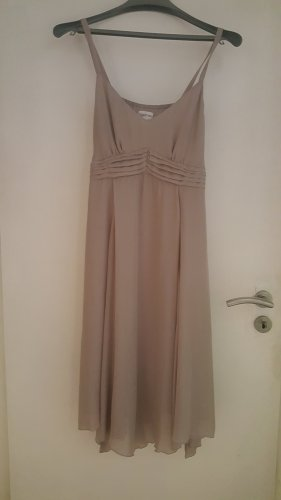 Together Chiffon Sommer Kleid Gr. 42 mit Bindeband grau