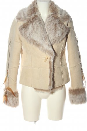 Together Fake Fur Jacket cream casual look