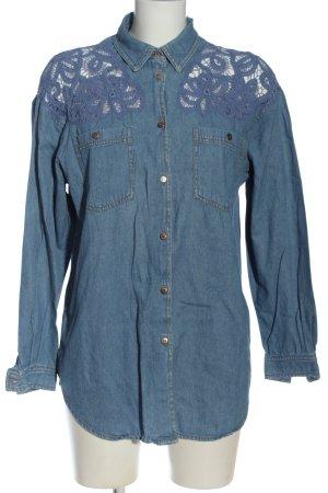 Together Camicia denim blu stile casual