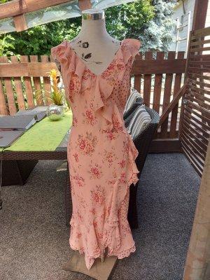 Together Sukienka z falbanami jasny różowy-różowy