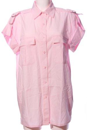 Together Camisa de manga corta rosa look casual