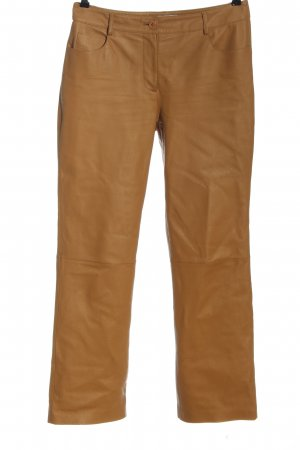 Together Pantalone in pelle marrone stile casual