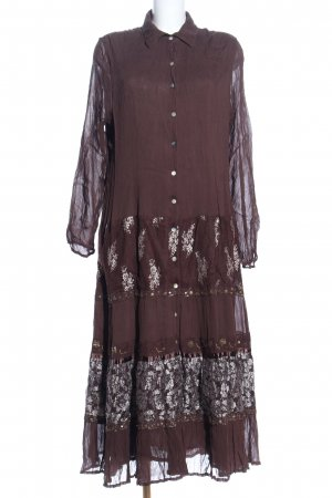 Together Maxikleid braun abstraktes Muster Casual-Look