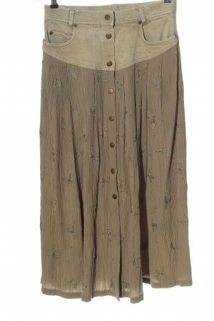 Together Midi Skirt brown-natural white extravagant style