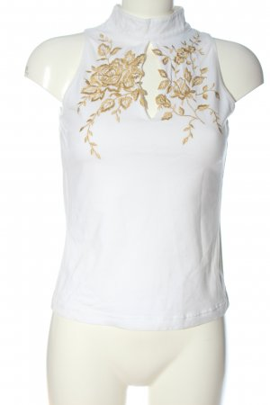 Together Neckholder Top white flower pattern casual look