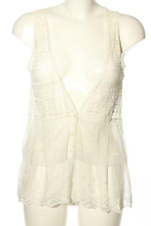 Toi du monde Smanicato lavorato a maglia bianco stile casual