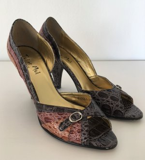 Toi et Moi Paris High Heels 37 Pumps Kroko Peeptoes Damen Abend Schuhe Party Hochzeit