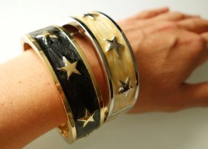 Bangle zwart-goud