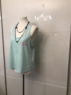 Tokyo Laundry Haut avec une épaule dénudée turquoise-bleu clair