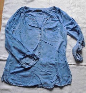 """TOLLE!!! 2 in 1 Viskose Bluse von """"Street One"""" Gr. 42, blau mit leichtem Batiklook"""