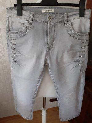 Karostar 3/4-jeans lichtgrijs