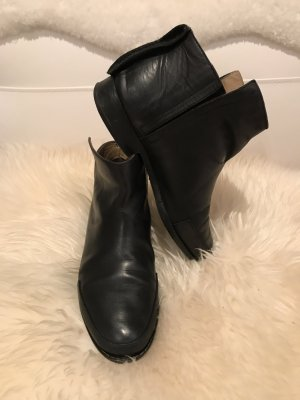 Acne Booties black leather