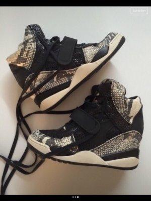 ASH High Top Sneaker black-oatmeal